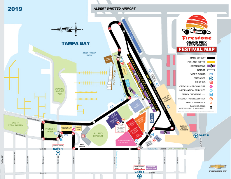 2019 Firestone Grand Prix of St. Petersburg Map