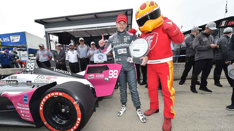 Marco Andretti ends his Pole drought in detroit